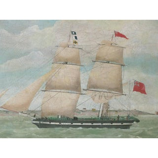 English Oil Painting of a Schooner; Signed & Dated 'W.Pike 1835'