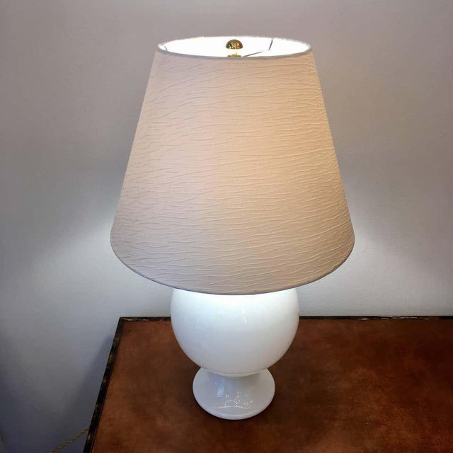 Orrefors Orrefors 1970s Swedish Glass Table Lamps - A Pair For Sale - Image 4 of 9