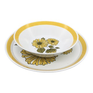 Crown Lynn Forma Charmaine Serving Platter and Bowl For Sale