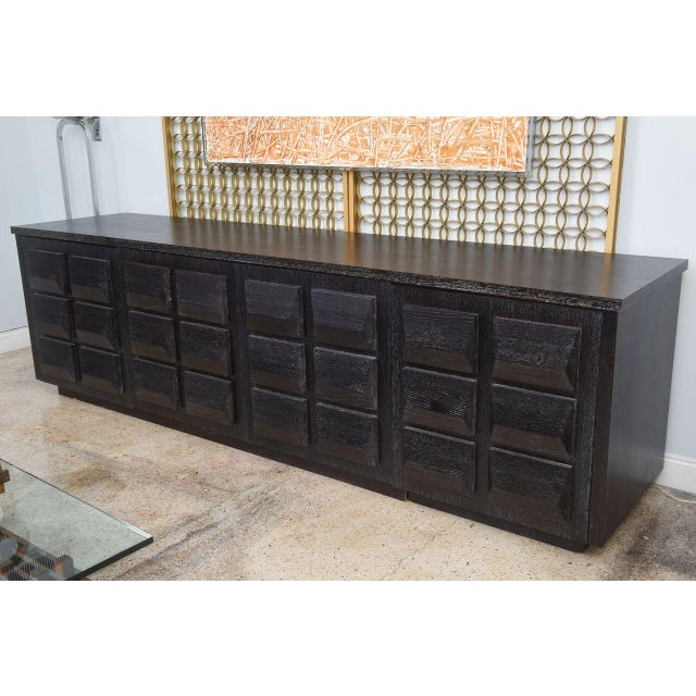 Monumental Ebonized Four-Door Credenza or Buffet by Jamie Herzlinger For Sale - Image 9 of 9