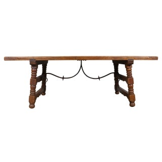 Rustic Spanish Oak Dining Table For Sale
