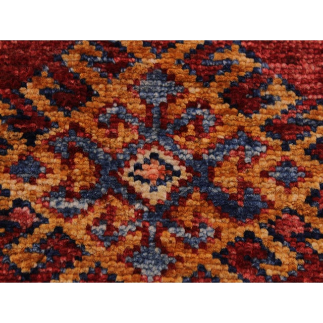 Persian Margaret Red/Beige Hand-Knotted Wool Rug - 2'0 X 2'10 For Sale In New York - Image 6 of 8