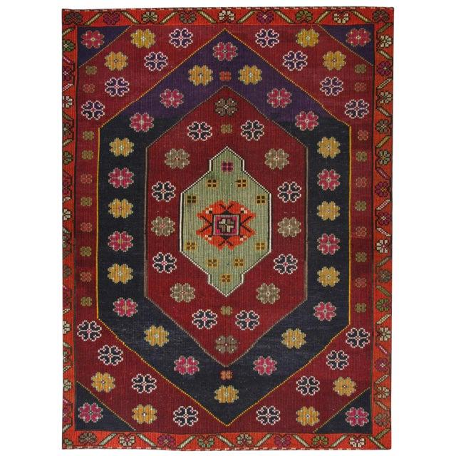 Vintage Cicim Kilim | 6'7 x 9'2 Turkish Flatweave - Image 1 of 3