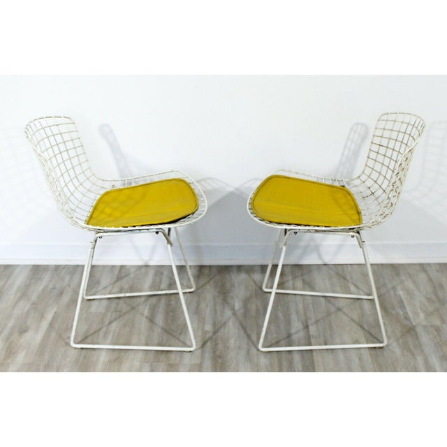 Contemporary Modern Harry Bertoia for Knoll Set 5 Side Dining Chairs 1980 Yellow For Sale - Image 9 of 11
