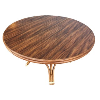 Restored Round Dining Table With Formica Top For Sale