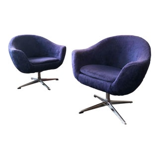Arthur Umanoff Mid Century Modern Bucket Lounge Chairs - a Pair For Sale
