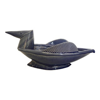 Ceramic Modernist Bird Decorative Bowl For Sale