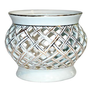 Reticulated Porcelain Bowl For Sale