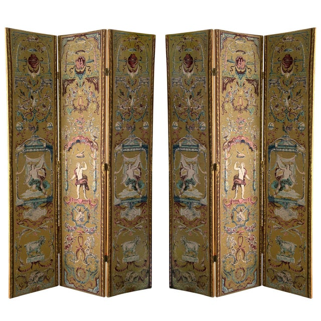 Renaissance Revival Style Screens - A Pair - Image 1 of 6