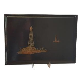 Vintage Couroc Power Plant Tray