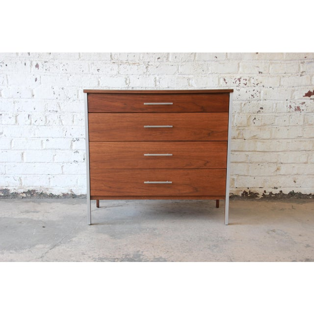 Paul McCobb for Calvin Four-Drawer Chest of Drawers with Glass Front Hutch - Image 8 of 11