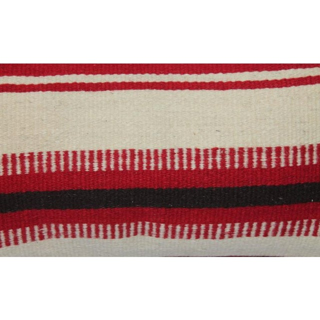 Adirondack Pair of Mexican Indian Weaving Striped Bolster Pillows For Sale - Image 3 of 5