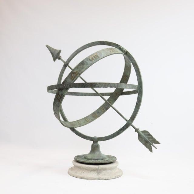 "2010s Bronze Armillary Sundial Sphere 24"" Diameter For Sale - Image 5 of 5"