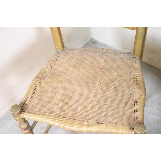 Gold 19th Century Italian Set of Four Turned and Gilded Wooden Famous Chiavari Chairs For Sale - Image 8 of 10