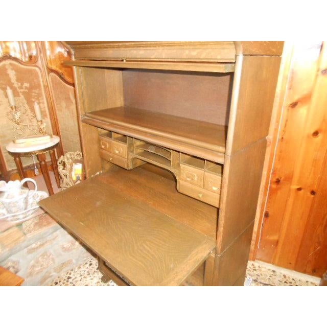 Brown 1900s Traditional Gunn Barrister Secretary Bookcase For Sale - Image 8 of 11