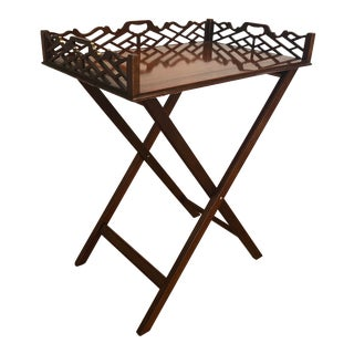 Baker Furniture Historical Charleston Service Tray and Folding Stand For Sale