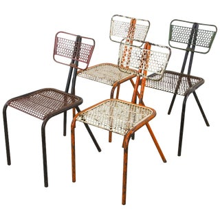 Rare Set of Four Rene Malaval 'Radar' Chairs For Sale