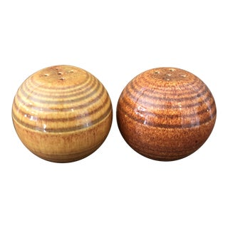 Bauer Ringware Salt & Pepper Shakers - A Pair For Sale