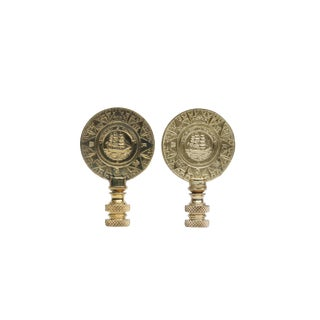 Solid Brass Ship Finials - A Pair