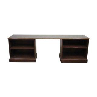 1980s Walnut Executive Desk For Sale