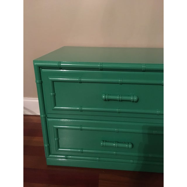 Dixie Furniture Lacquered Faux Bamboo Chest - Image 3 of 7