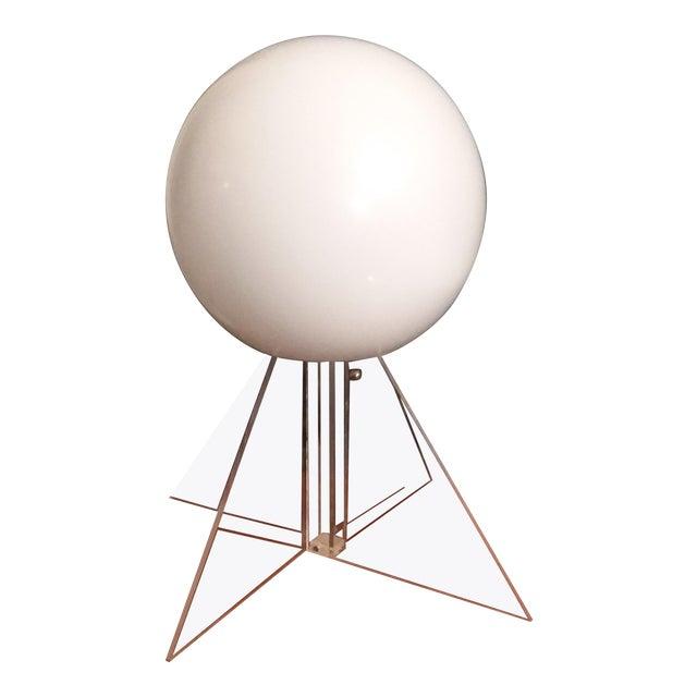 Mid Century Plexi Globe Table/Floor Lamp For Sale