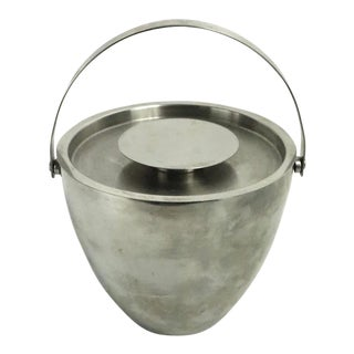 Modernist Stainless Steel Ice Bucket After Jacobsen For Sale