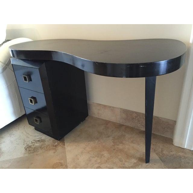 Mid Century Modern Black Desk - Image 2 of 5