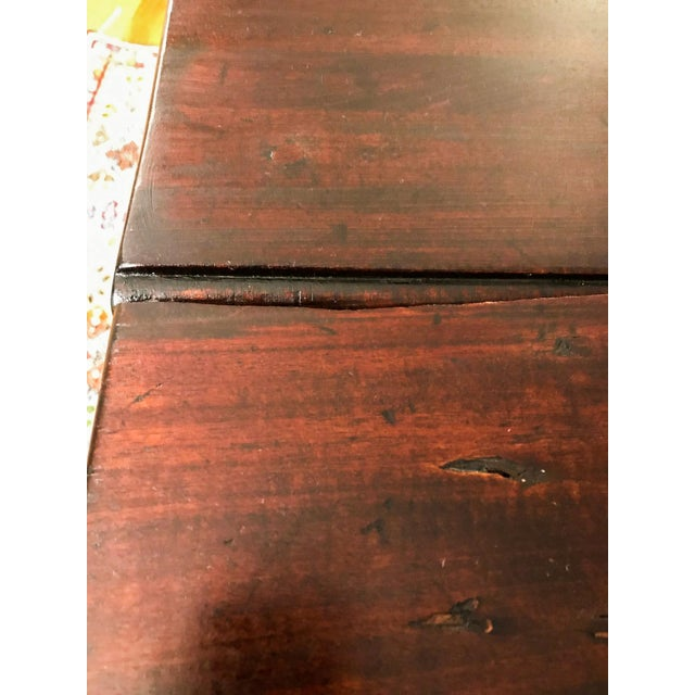 Wood Mid 18th Century Antique Mahogany Drop-Leaf Table For Sale - Image 7 of 13