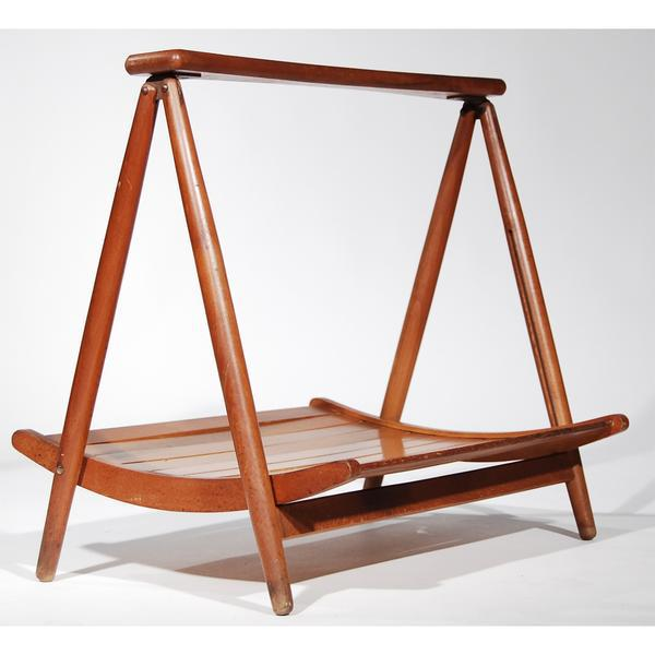 Teak Wood Magazine Tray Holder - Image 6 of 6