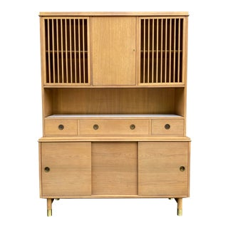 Bleached Mahogany Wall Unit by Renzo Rutili For Sale