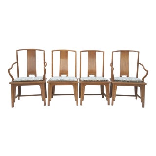 Baker Furniture Silver Label Chinese Style Ming Dining Chairs - Set of Four For Sale