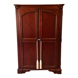 French Country Armoire Wardrobe / Media Console For Sale