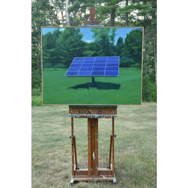 """2010s Contemporary Painting, """"Solar Panel in a Field"""" by Stephen Remick For Sale - Image 9 of 12"""