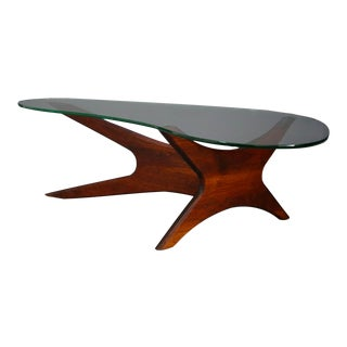 MidCentury Coffee Table by Adrian Pearsall for Craft Associates in Walnut, 1960s For Sale