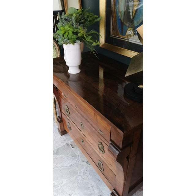 French Walnut Chest of Drawers For Sale - Image 12 of 13