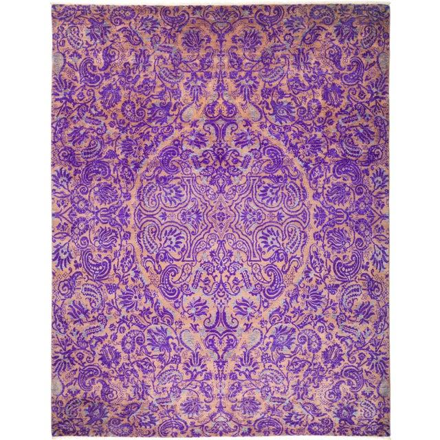 "Suzani Hand Knotted Area Rug - 8' 1"" X 10' 1"" - Image 4 of 4"