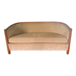 1980s Vintage French Art Deco Style Cut Velvet Sofa For Sale