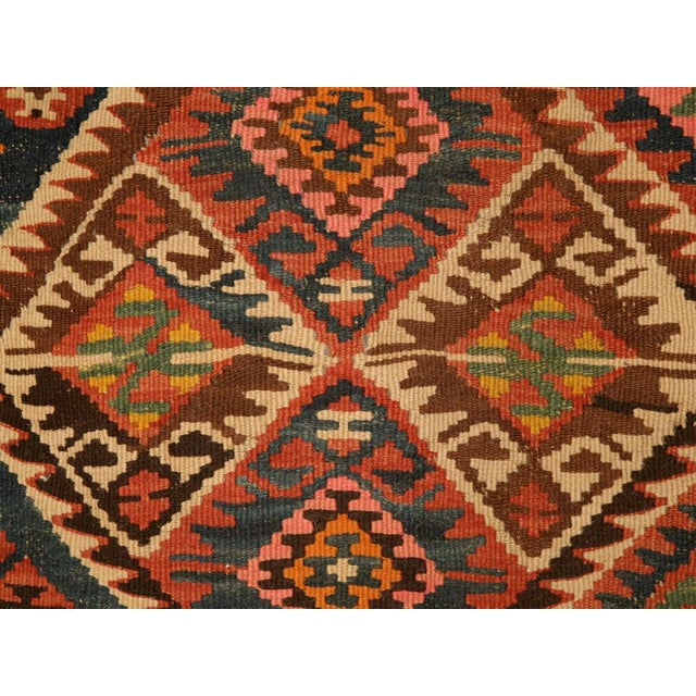 Textile Circa 1930 Persian Kilim Geometric Patterned Rug - 5′2″ × 7′11″ For Sale - Image 7 of 10