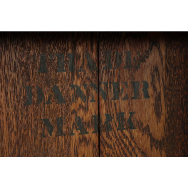 Danner Antique Oak Stacking Sliding Door Bookcases (B) - a Pair For Sale - Image 12 of 13