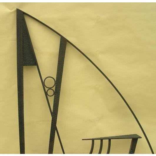 Art Deco Hammered Iron Screen - Image 4 of 7