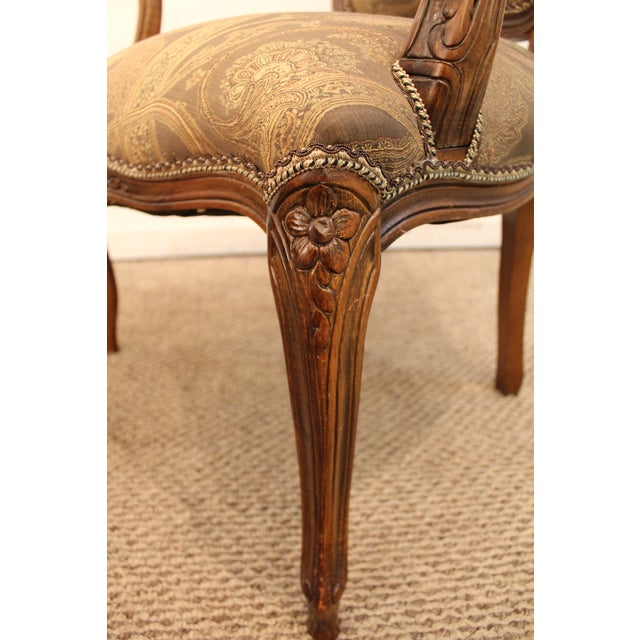 Vintage French Carved Ladies Fauteuil Arm Chair - Image 9 of 11