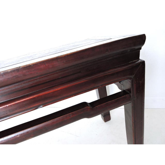 Late 19th Century Antique 'Ming' Rosewood Bench For Sale - Image 5 of 6
