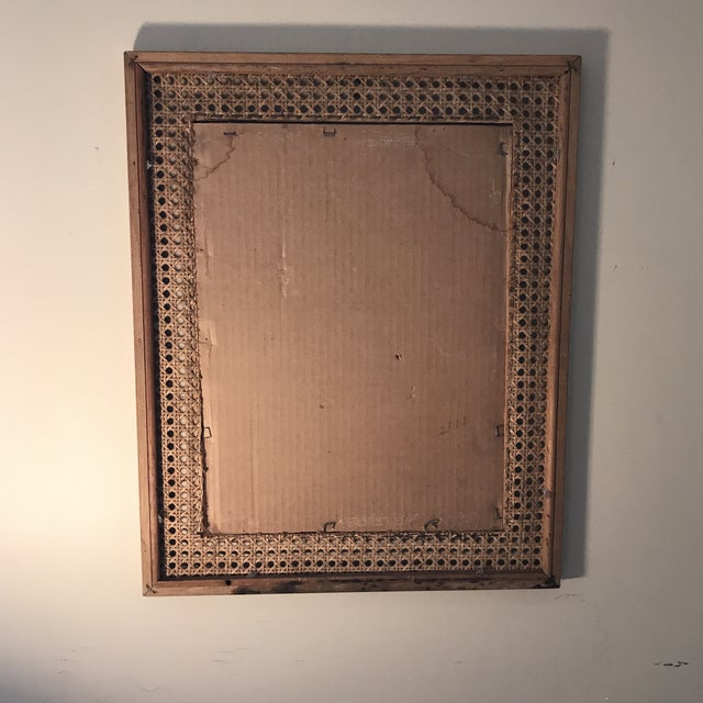 1970s Boho-Chic Wicker and Bamboo Picture Frame 17\