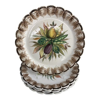 Vintage Italian Hand-Painted Dinner Plates, Set of 4
