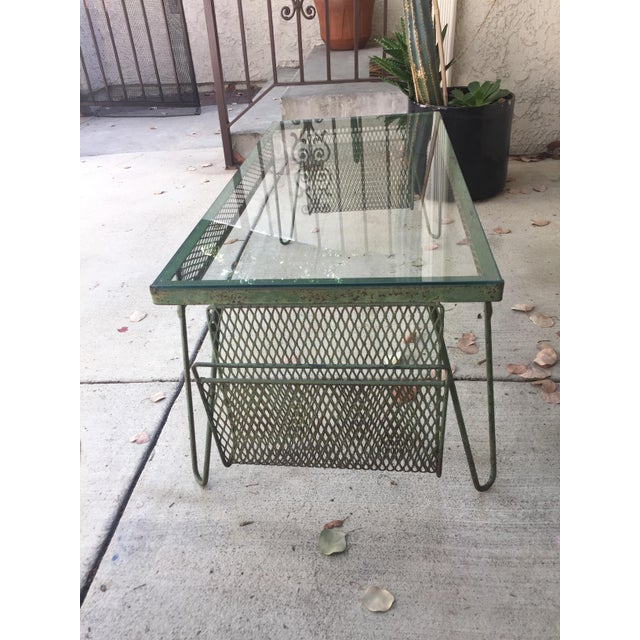 Unique Iron & Glass Mid-Century Modern Outdoor Indoor Patio Coffee Table For Sale - Image 10 of 12