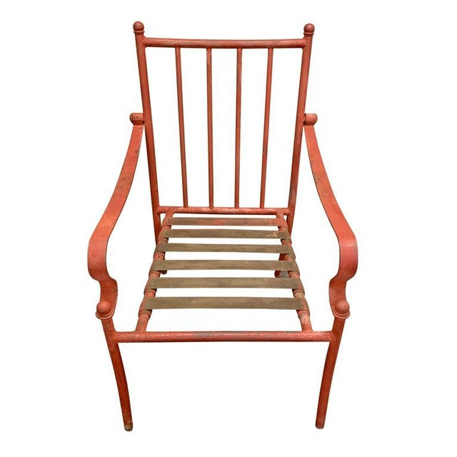 Mid 20th Century Set of Four Mid-20th Century American Iron Patio Chairs For Sale - Image 5 of 12