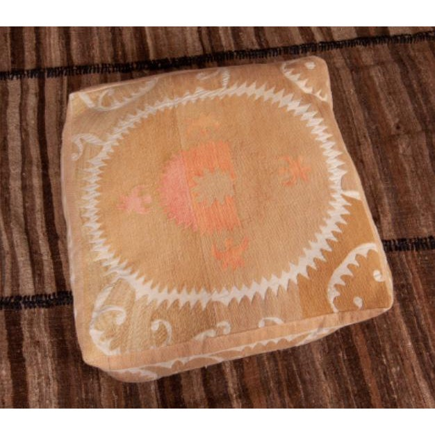 Mid Century Embroidered Suzani Floor Cushion For Sale - Image 4 of 6