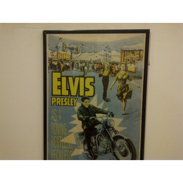 "Vintage Movie Poster ""Roustabout"" Signed by Elvis Presley Circa 1964 For Sale - Image 5 of 10"