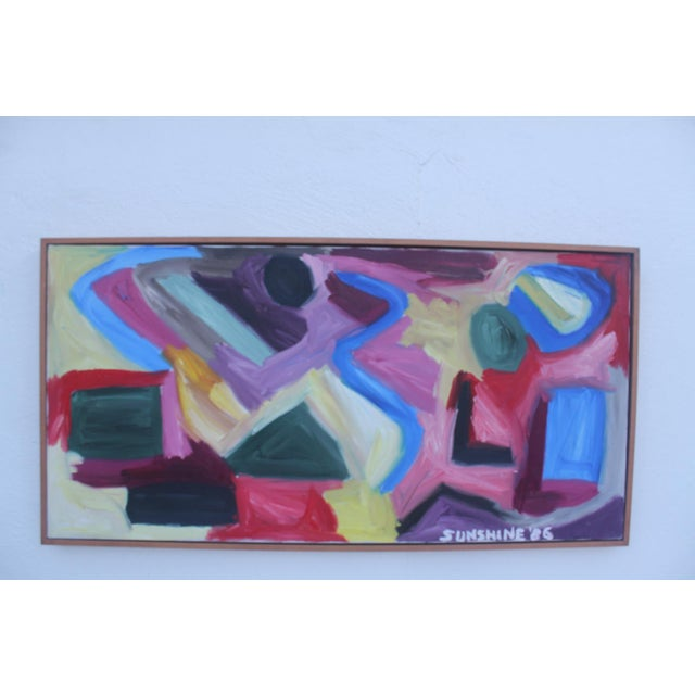 1986 Vintage Expressionist Painting For Sale - Image 10 of 10